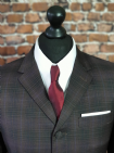 """Jake"" Brown Heather Check Three Button Suit"